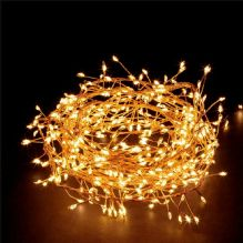 Fit and Forget Warm White LED Battery Garden Lights 200 Copper Wire